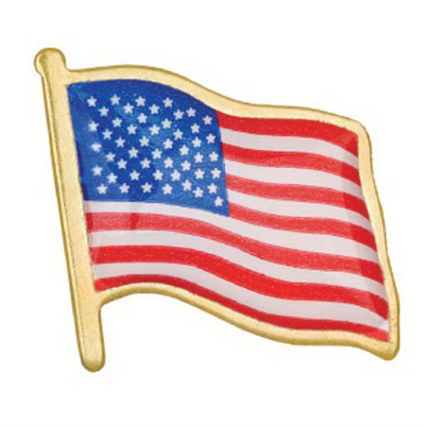 Promotional Stock American Flag Lapel Pin