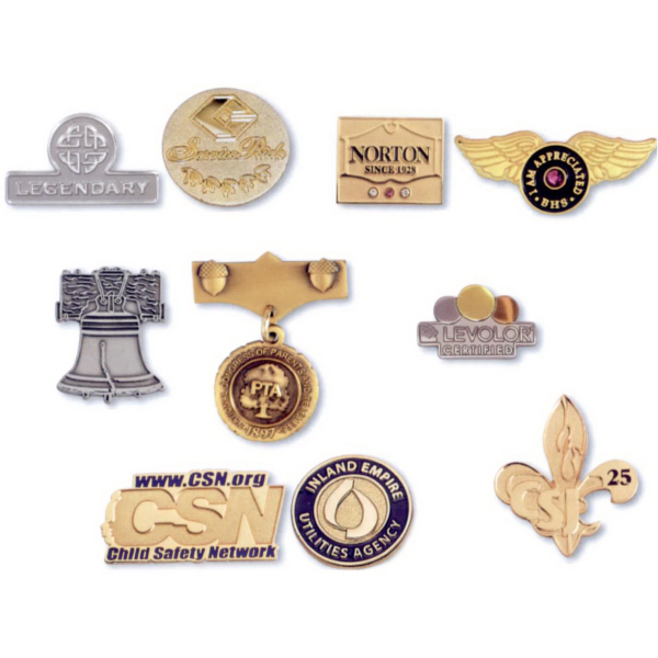 "Personalized Oro-Clad (TM) Pin (Sizes 1 1/4"" and 1 1/2"")"