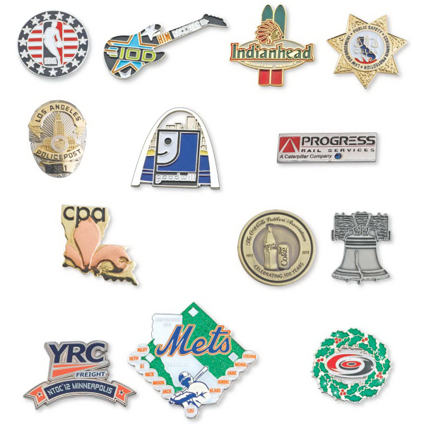 Printed Die Struck Enamel Iron Lapel Pin