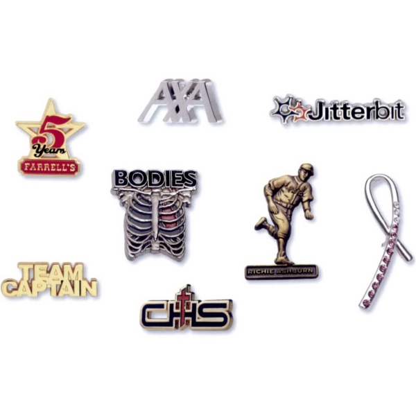 Printed Die Cast Lapel Pin with No Lead