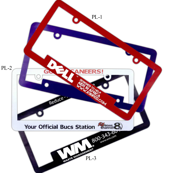 Imprinted License Plate Frame