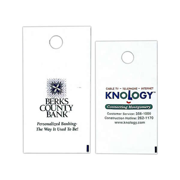 Imprinted Custom printed door hanger bag