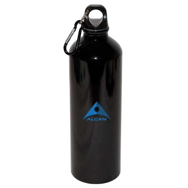 750 mL. (25 oz.) Aluminum Water Bottle with Carabiner