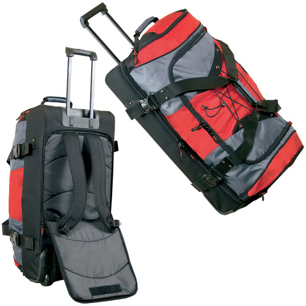 "30"" Extra Large Duffel Bag/Backpack On Wheels"