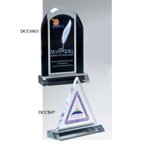 Triangle Award on Clear Base