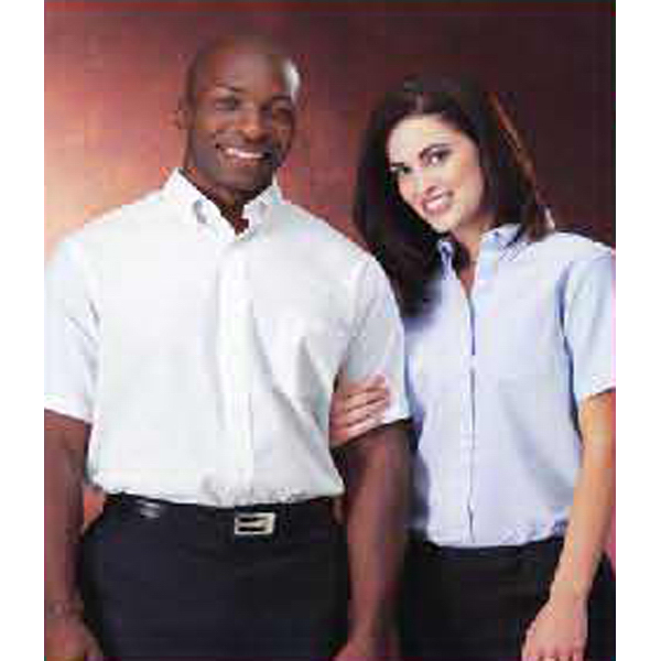Customized Ladies' Van Heusen Short Sleeve BD Relaxed Fit Oxford Shirt