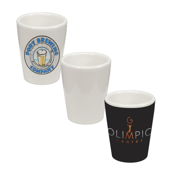 1.5 oz Ceramic Shot Glass
