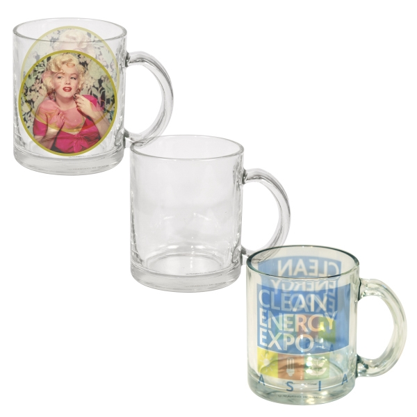 10 oz Photo Glass Mug (Clear)
