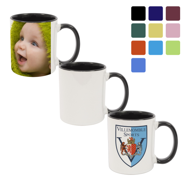 11 oz Combo Colored Ceramic Mug