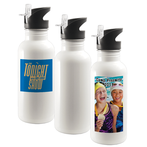 20 oz Stainless Steel Water Bottle w/ Straw Top