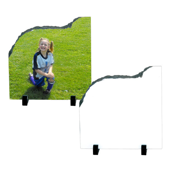 Imprinted Photo Slate - Medium Contour Shape
