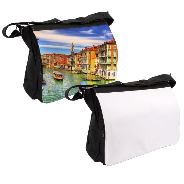 Large Photo Messenger Bag (Black)
