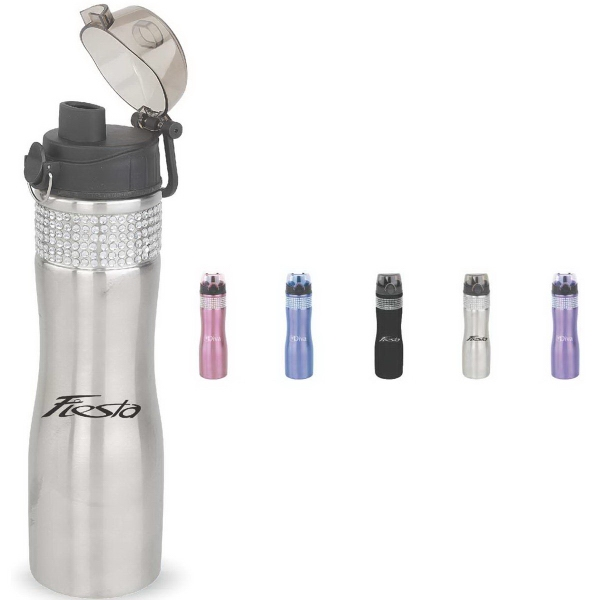 Customized 24 oz. Stainless Bling Water Bottle