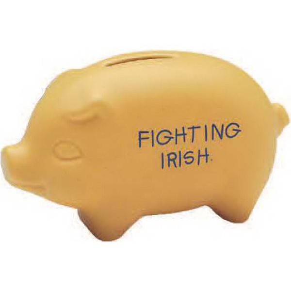 "Personalized 3 1/2"" H Piggy Bank - Matte/Gloss Color"