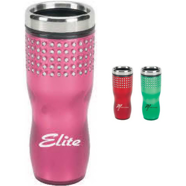 Customized 16 oz. Bling Travel Mug