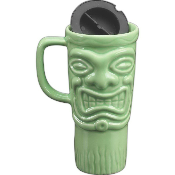 Customized 16 oz. Tiki Travel Mug