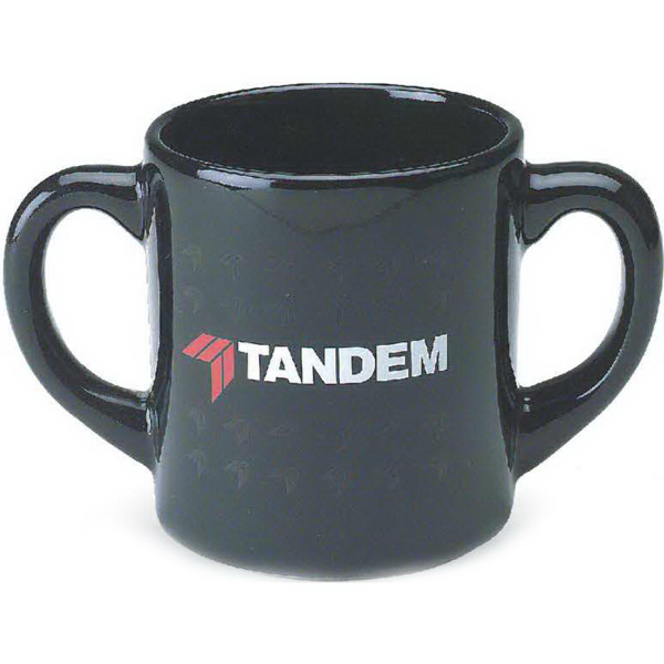 Promotional 10 oz. Double Handle Mug Matte/Gloss