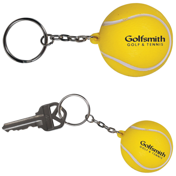 Imprinted Stress reliever keychain