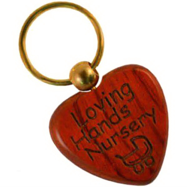 Wood Heart Key Chain - Maple