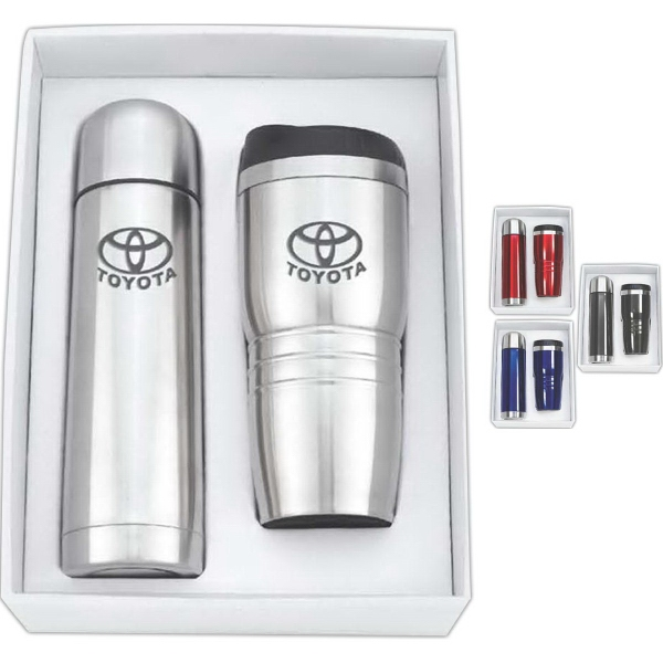 Stainless Steel Thermos & Tumbler Gift Set