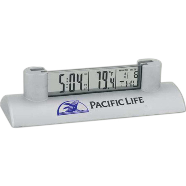 LCD Clock with Card Holder