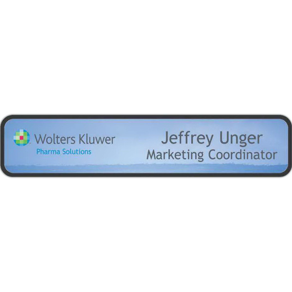 Full Color Nameplate with Frame