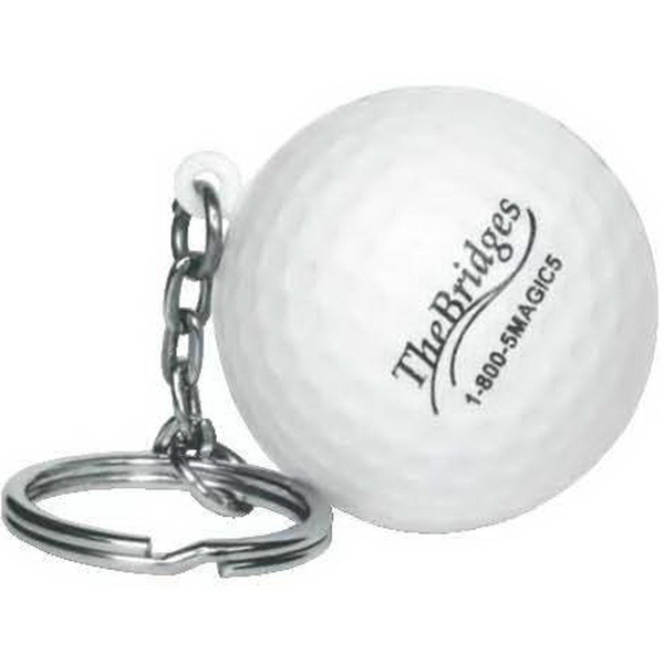 Sports ball stress reliever key chain