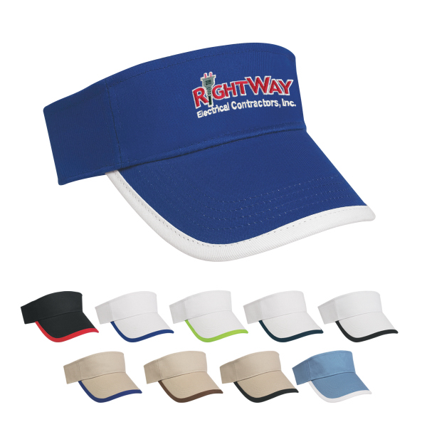 Custom Price Buster Visor with Trim