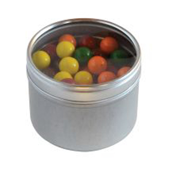Sixlets in Small Round Window Tin