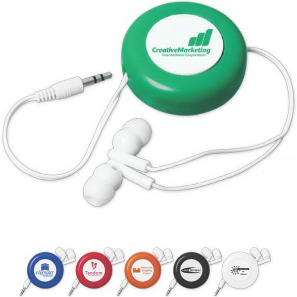 Push-Button Retractable Ear Buds