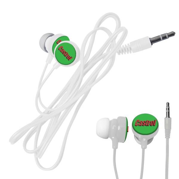 Imprinted 3D Color Ear Buds