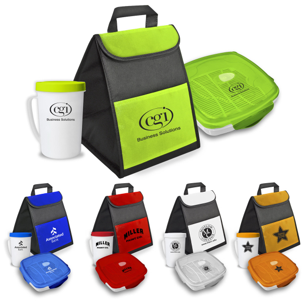 Promotional Lunch Bag with Steamer and Cup