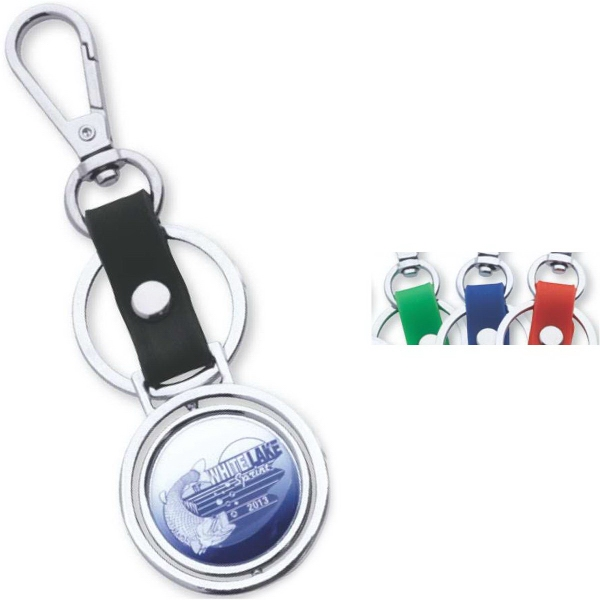 Imprinted Encore Spinning Key Ring