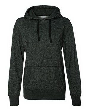Personalized J America Ladies' Glitter French Terry Hooded Pullover