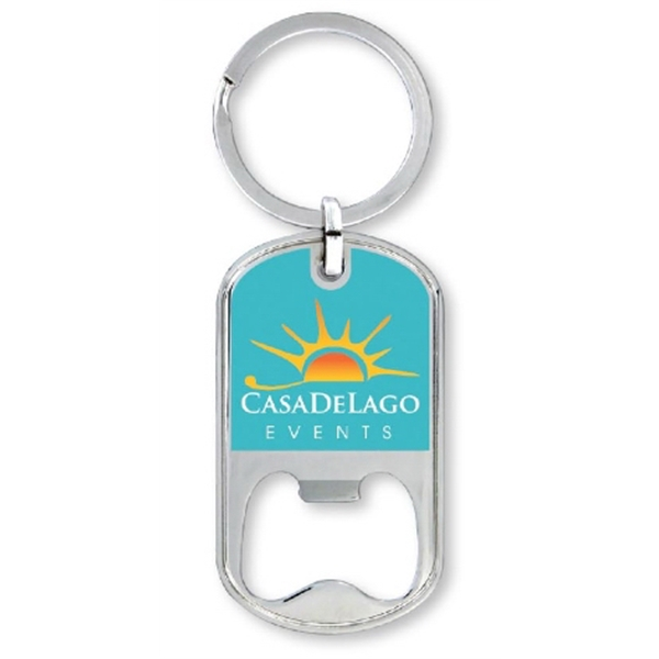 Dog Tag Opener Key Ring
