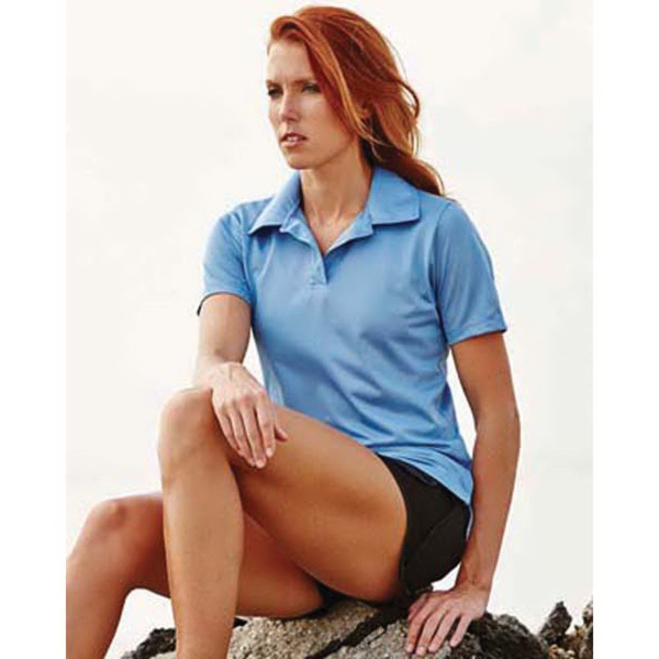 Women's Textured Polo with Johnny Collar