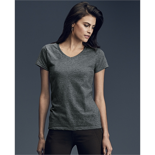 Imprinted Womens Lightweight V-Neck Tee