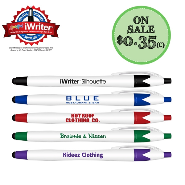 iWriter Silhouette Stylus & Ball Point Pen with Blue Ink