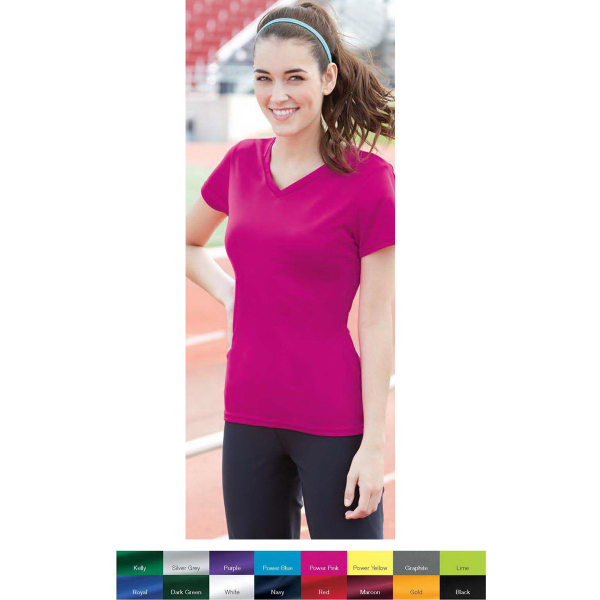 Augusta Sportswear Ladies' V-Neck Wicking T-Shirt