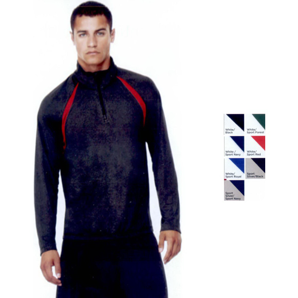 Custom Alo Sport (TM) Quarter-Zip Lightweight Pullover with Inserts