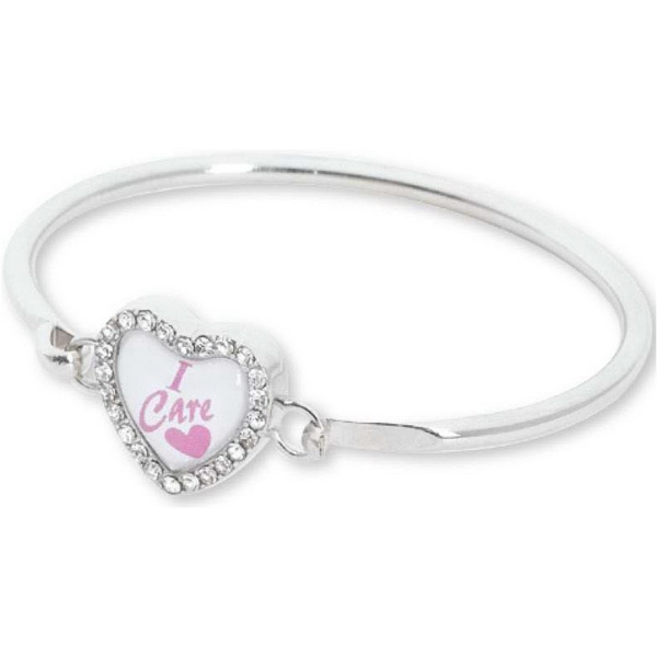 Printed Crystal Heart Bracelet