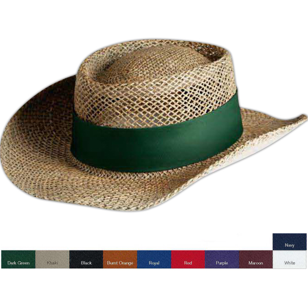 Outdoor Cap Lined Gambler Straw Hat