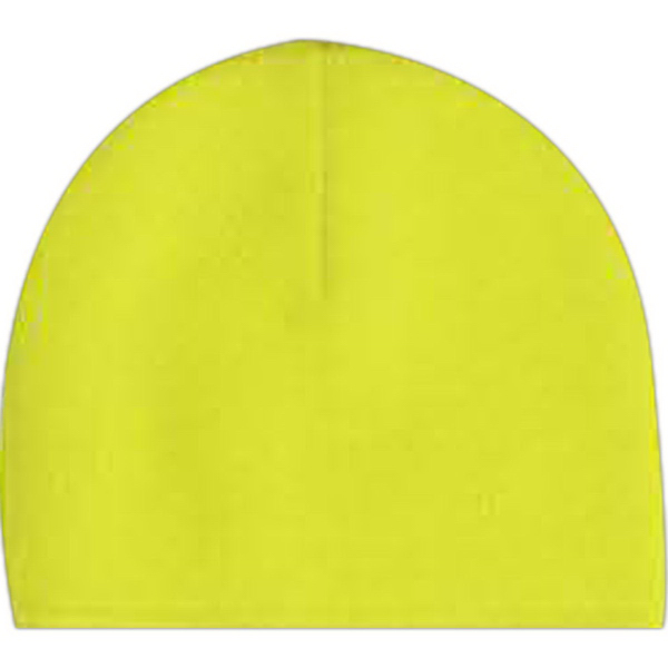 Imprinted Bright Shield Poly Fleece Beanie