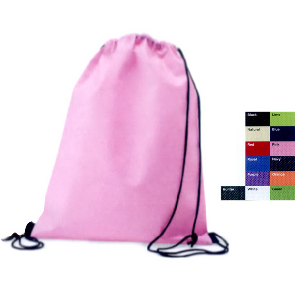 Printed Valubag Non-woven drawstring backpack