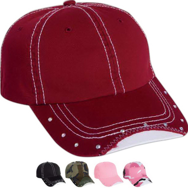 Promotional Mega Cap Low Profile Unstructured Cotton Twill Cap Washed