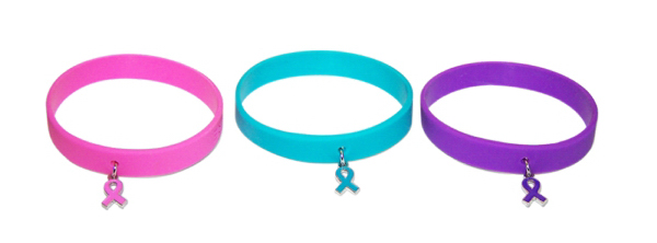 Printed SILICONE BRACELET WITH CHARM