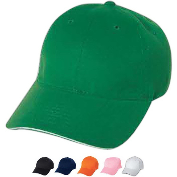 Promotional Mega Cap Low Profile Brushed Cotton Twill Sandwich Cap