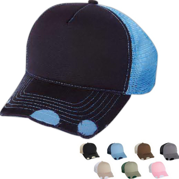 Customized Mega Cap Structured Deluxe Brushed Cotton Twill Cap