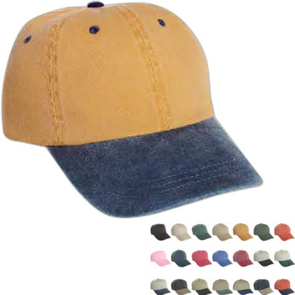 Imprinted Mega Cap Low Profile Pigment Dyed Cotton Twill Cap