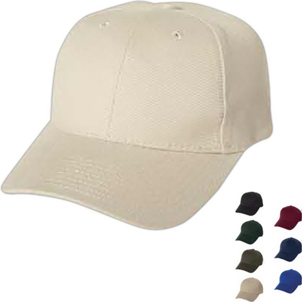 Imprinted Mega Cap Low Profile Heavy Brushed Cotton Twill Cap